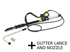 Karcher Telescopic Jet Pipe 4m (13 feet) + Gutter Lance Nozzle Belt Fits K2-K7