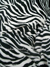 ZEBRA PRINTS QUEEN SIZE PRINTED MICROFIBER BLANKET NEW