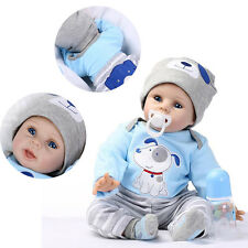22'' Handmade Lifelike Baby Boy Doll Soft Vinyl Reborn Newborn Doll & Clothes