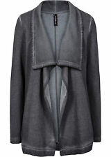 Origineller Sweat-Cardigan in stylisher Optik Gr.40/42