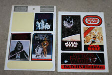 1978 Star Wars Japanese Japan Tokyo Queens Sticker Sheets x2 (used)
