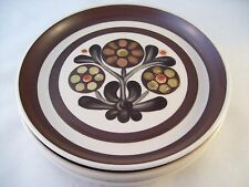 Denby Langley Pottery Mayflower 4 Bread Dessert Plates England Retro Vintage