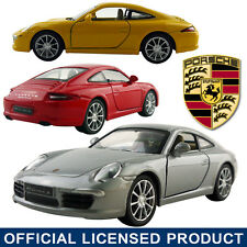 1:35 Porsche Carrera S 911 DieCast Model Car Kid Child Pull Back Friction Toy