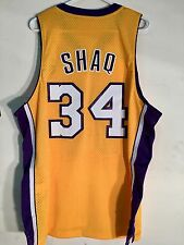 Adidas Swingman NBA Jersey Los Angeles Lakers Shaquille O'Neal Gold HWC sz L