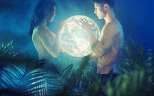 Framed Print - Adam & Eve Holding the World (Picture Poster Religion Bible Art)