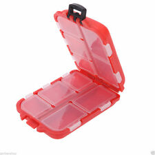 Orange Small Fly Fishing Tool Box Tackle Lure Hooks Case Accessories Storage