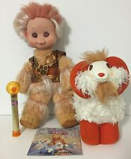 1985 Wonder Whims Jadoo & Rambumptious  Plush Dolls Book Wand Ram Set