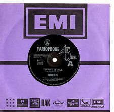 "QUEEN - I WANT IT ALL - 7"" 45 VINYL RECORD 1989"