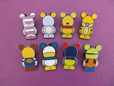 Disney trading pin lot of 8 vinylmation jr. mini characters goofy woody tigger