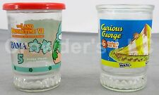 Set of 2 Vintage Collectible Jelly Jars: Welch's Curious George & Bama Ducky