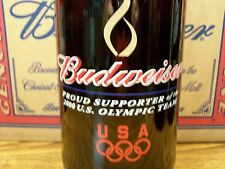 Budweiser,  2000  U. S.  OLYMPIC  Glass  Beer  Bottle  Empty, 64 Oz King Pitcher