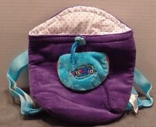 WEBKINZ Pet Carrier BAG PURSE HANDBAG TOTE Blue & Purple EUC Dress Up Play