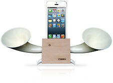 iPhone5c/5s/5/4s/4/iPodTouch5 Loudspeaker.Docking stand.Horn stand.Wood W
