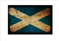 Scotland Scottish aged flag metal sign vintage style Scottich flag sign