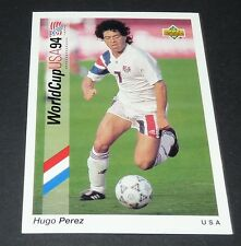 HUGO PEREZ ITTIHAD US SOCCER FOOTBALL CARD UPPER DECK USA 94 PANINI 1994 WM94