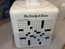 New York Times Sweet Surprise & Piece of Cake Cookie Jar Crossword Puzzle Gorski