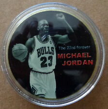 Michael Jordan  basketball  24 kt gold plated   1 oz  coin  40 mm