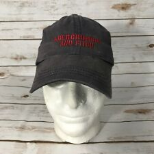 Abercrombie and Fitch soft hat baseball cap Blue adjustable strap unisex vintage