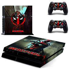 Popular Game Deadpool Skin Sticker for PS4 System Playstation 4 Console