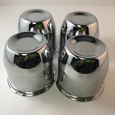 "Set of 4 Chrome 4.25"" Push Through Center Caps Fit 5x5.5"" & 6x5.5"" Wheels C102"