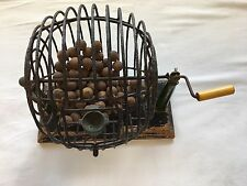 Vintage MET Games Bingo Rolling Cage Ball Dispenser w/ Bakelite Handle and Posts