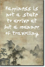 """ZEN QUOTE POSTER 3 """"Happiness is not a state..."""" PHOTO PRINT BUDDHISM MOTIVATION"""