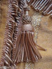 rideau théatre miniature ancien voile tabernacle veil antique gold fringe 19th c