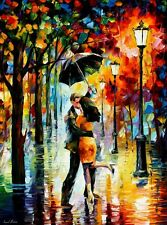 """DANCE UNDER THE RAIN  —  Oil Painting On Canvas By Leonid Afremov - Size:30""""x40"""""""