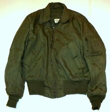 VTG Gibraltar Military Cold Weather Flight Bomber Army Jacket Sz Medium Long