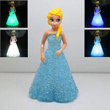 Neu Kinder 7 Farben Frozen Elsa LED Nachtlicht Kinderzimmer Tisch Lampe Leuchte