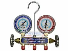 "YELLOW JACKET 41202 Manifold only, psi, R22/134a/404, °F with 2-1/2"" Gauges"