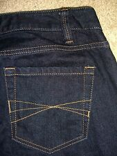 ANN TAYLOR LOFT Curvy Boot Stretch Dark Denim Jeans Womens Size 6 L x 34.5 Mint