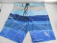 MENS DA HUI DAHUI BOARD SHORTS AMPHIBIOUS 36 SURF POLYESTER PANTS BEACH BLUE