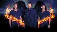 "Supernatural - US TV Show Season Art Fabric poster 21"" x 13"" Decor 088"