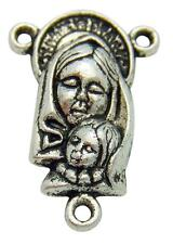 MRT Madonna & Child Holy Rosary Center Silver Plate Centerpiece Catholic Gift