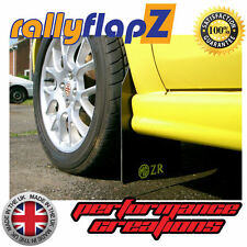 rallyflapZ ROVER MG ZR (01-05) Hatchback Mud Flaps Black 3mm PVC Logo Yellow