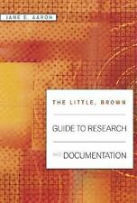 The Little, Brown Guide to Research and Documentation, Aaron, Jane E., Good Book