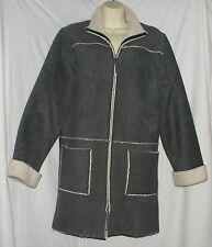MONSOON grey faux sherling coat size M