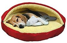 "25"" Round Dog Puppy Cat Bed Ultra Plush Pet Cave Poly Sherpa Washable Pet Cave"