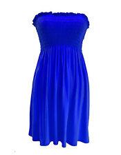 Womens Ladies Plus Size Sheering Boobtube Bandeau Strapless Top Vest Dress 8 22