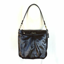 Coach Ashley Brown Patent Leather Hippie Shoulder Bag 20464 Great Cond.