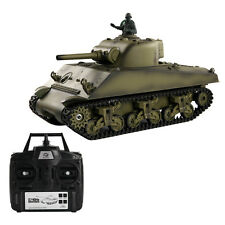 1:16 2.4G US M4A3 Sherman RC Tank w/ Smoke & Sound Radio Remote Control Toys