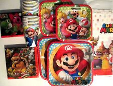 SUPER MARIO BROTHERS Amscam Birthday Party Supplies SUPER Kit w/Beverage Napkins