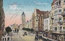 Posen St. Martinstraße und Schloß Strasse Postkarte 1915