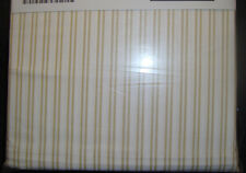 IKEA ALVINE LJUV Bed Sheet set 3 pcs Fitted Flat Pillowcase White Yellow Twin