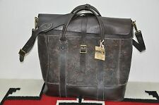 Ralph Lauren RRL Distressed Engraved Leather Large Overnight Bag