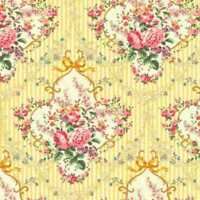 1/2 Yard Cottage Chic & Shabby Mary Rose Sweet Charms Bouquet MR2150-14C