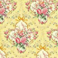 Cottage Shabby Chic Cotton Fabric Mary Rose Sweet Charms Bouquet MR2150-14C BTY