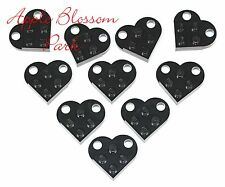 NEW Lego Set/10 Valentine's Day BLACK HEARTS - Minifig Wedding Charm Pendant Lot
