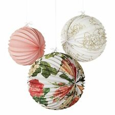 Blossom & Brogues Accordian Lanterns Vintage Shabby Chic Paper Party  Decoration